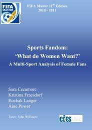 Sports Fandom - Female Fans - Research Paper