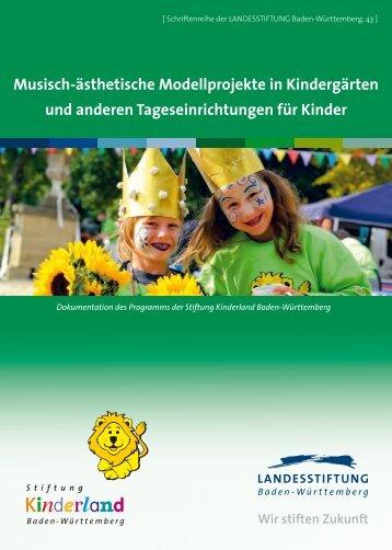 Musisch-ästhetische Modellprojekte in Kindergärten und anderen ...