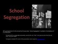 School Segregation - Database of K-12 Resources