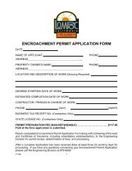 encroachment permit application form - the City of Lompoc!