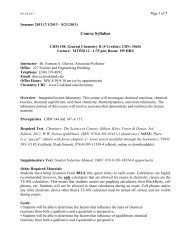 Course Syllabus - Oakland University