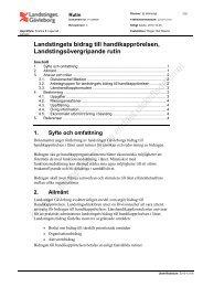 Rutin för bidrag till handikapporganisationerna - Landstinget ...
