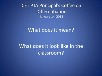 A Definition of Differentiation