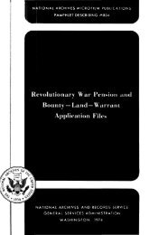 national archives microfilm publications pamphlet describing ... - Fold3