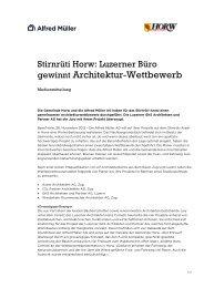 gewinnt Architektur-Wettbewerb - Alfred Müller AG