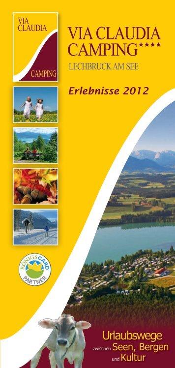Download Erlebnisflyer (pdf - 2011kb) - Via Claudia Camping