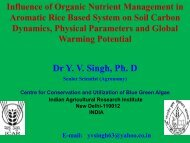 Influence of organic nutrient management in aromatic rice ... - Inra