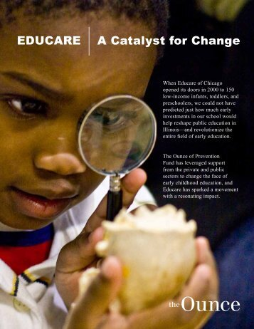 EDUCARE A Catalyst for Change - Ounce of Prevention Fund