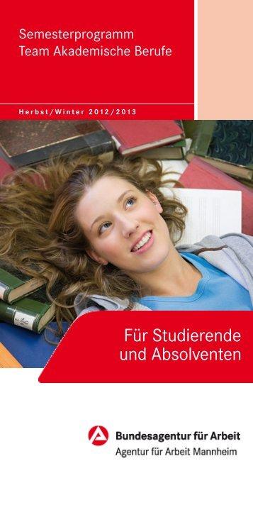 Semesterprogramm - Bundesagentur für Arbeit