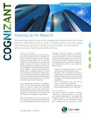 Gearing Up For Basel III - Cognizant