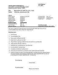 pöytäkirja - Automaatio- ja systeemitekniikan laitos