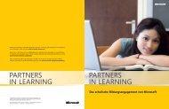 partners in learning partners in learning - Studenten machen Schule ...