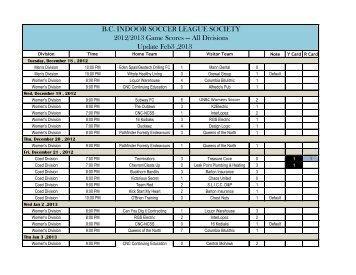 Divisions Update Feb3 ,2013 - BCISL