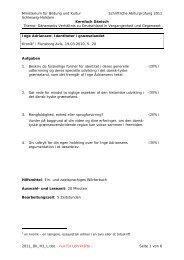 Ministerium für Bildung und Kultur Schriftliche Abiturprüfung 2011 ...