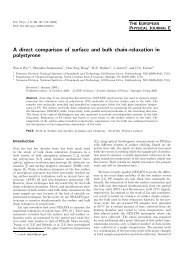 A direct comparison of surface and bulk chain-relaxation in ...