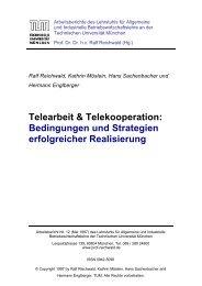 Telearbeit & Telekooperation - Lehrstuhl für Allgemeine und ...