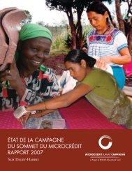 ÉTAT DE LA CAMPAGNE DU SOMMET DU MICROCRÉDIT RAPPORT 2007 - Le ...