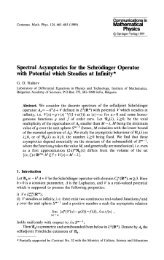 Spectral asymptotics for the Schrödinger operator with potential ...