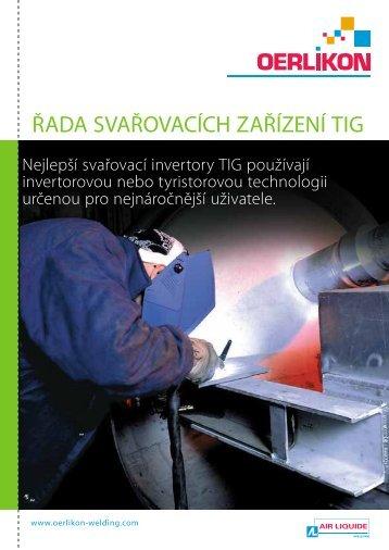 ŘADA SVAŘOVACÍCH ZAŘÍZENÍ TIG - Air Liquide Welding