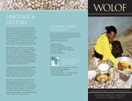 Wolof - National African Language Resource Center