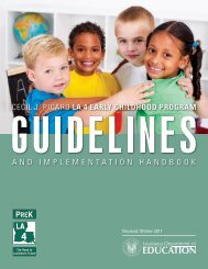 LA 4 Guidelines and Implementation Handbook - Louisiana ...