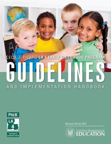 LA 4 Guidelines and Implementation Handbook - Louisiana ...