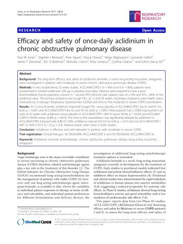 Efficacy and safety of once-daily aclidinium in chronic obstructive ...
