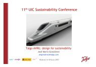 Talgo - The 12th UIC Sustainability Conference