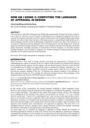 how am i doing 2: computing the language of appraisal in design