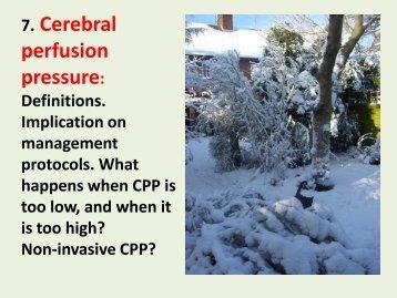7. Cerebral perfusion pressure: