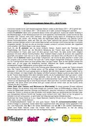 Bericht Junioren Obmann 2012 - FC Suhr