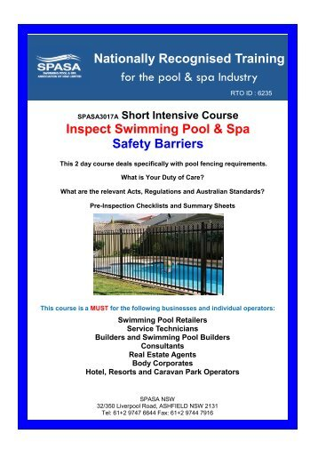 Inspecting Swimming Pool & Spa Safety Barriers - Splash Magazine