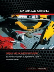 SAW BLADES AND ACCESSORIES - Ingersoll Rand