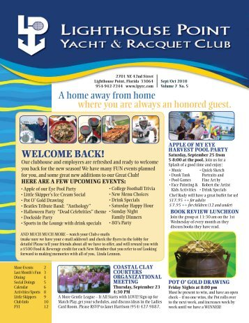 Sept/Oct 2010 - Lighthouse Point Yacht and Racquet Club