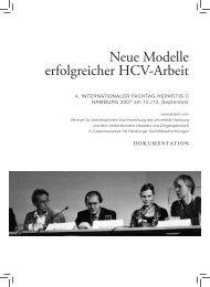 Neue Modelle erfolgreicher HCV-Arbeit - akzept e.V.