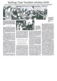 Aktueller Presseartikel (Weser-Kurier) - Trainer im Norden