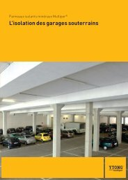 Brochure L'isolation des garages souterrains - Ytong