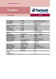Technical Data - iQ Optima - Tarkett