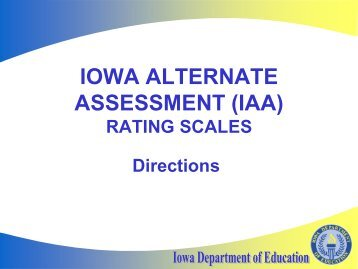 Iowa Alternate Assessment Rating Scales