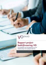 Download het rapport Project bedrijfsvoering VO - VO-raad