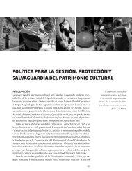 Política de gestión, protección y salvaguardia del patrimonio cultural