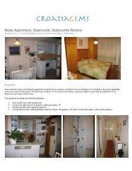 Nada Apartment, Dubrovnik, Dubrovnik Riviera - Croatia Gems