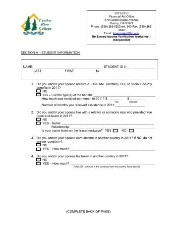 Income Verification Forms