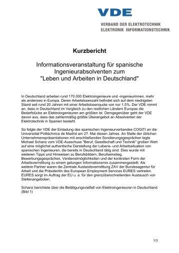 Leben und Arbeiten in Deutschland - VDE Nordbayern