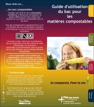 Guide d'utilisation du bac pour les matières compostables - Ville de ...