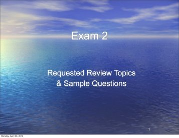 Exam 2 - Physics