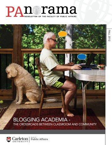 BLOGGING ACADEMIA - - Www3.carleton.ca - Carleton University