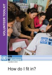 How do I fit in? - United Nations Volunteers