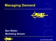 Managing Demand - 3DayCar