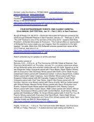 Overview - Zinfandel Advocates & Producers